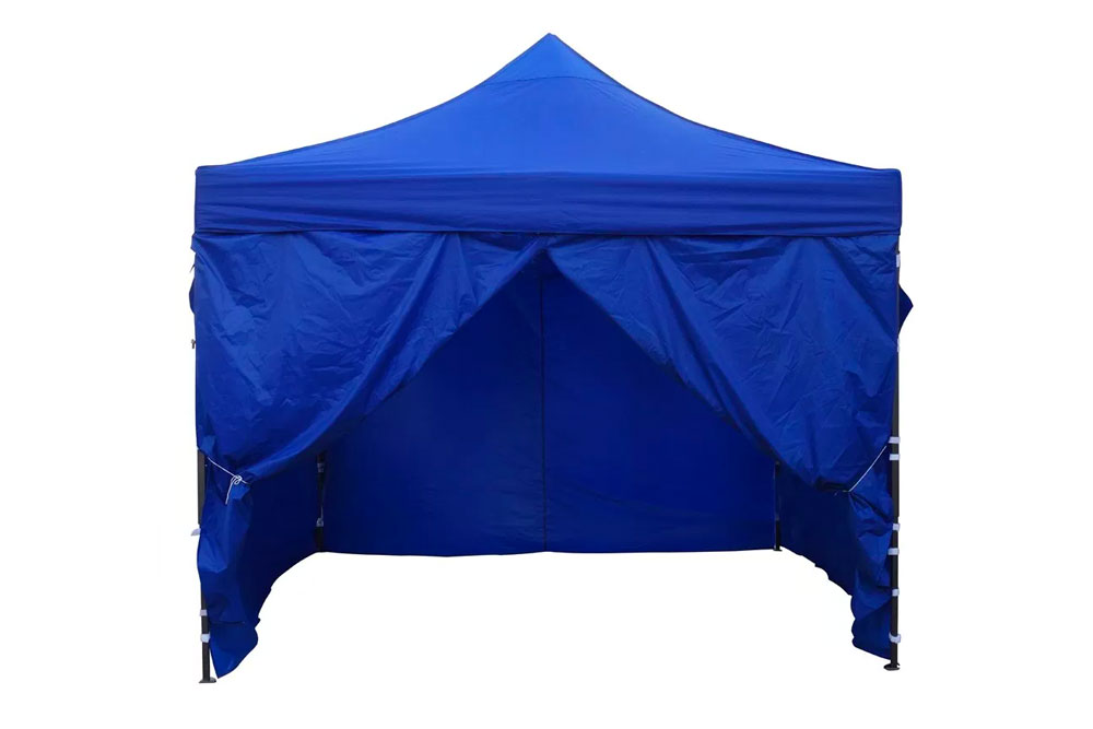 Carpa plegable simple con muros