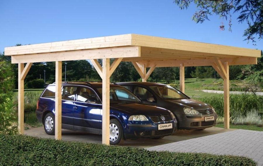 Pérgola de madera - Garaje. Modelo Richard1