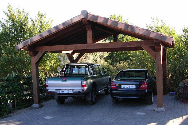 P rgolas para garajes te ense amos los mejores modelos for Crear una cubierta de madera