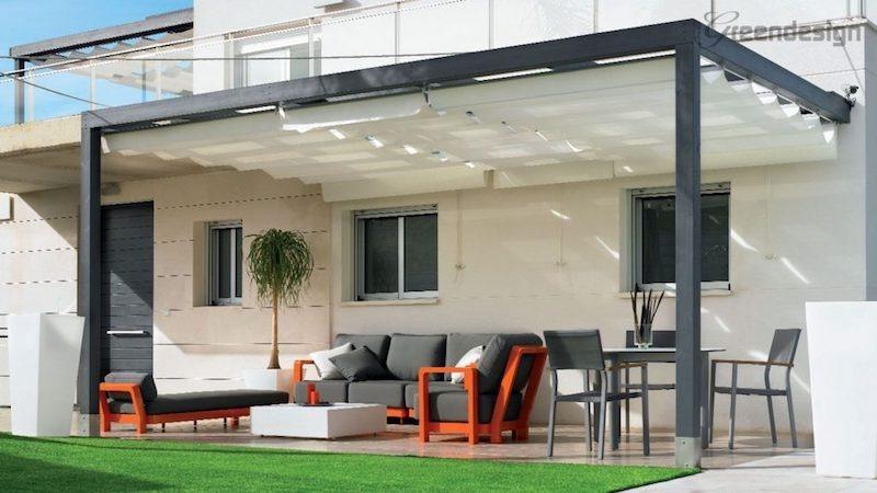 Pérgola de aluminio de pared