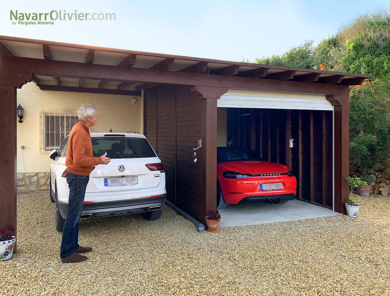 P rgolas para garajes te ense amos los mejores modelos - Garaje de coches ...