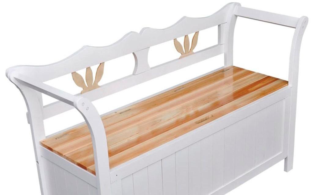 banco arcón de madera