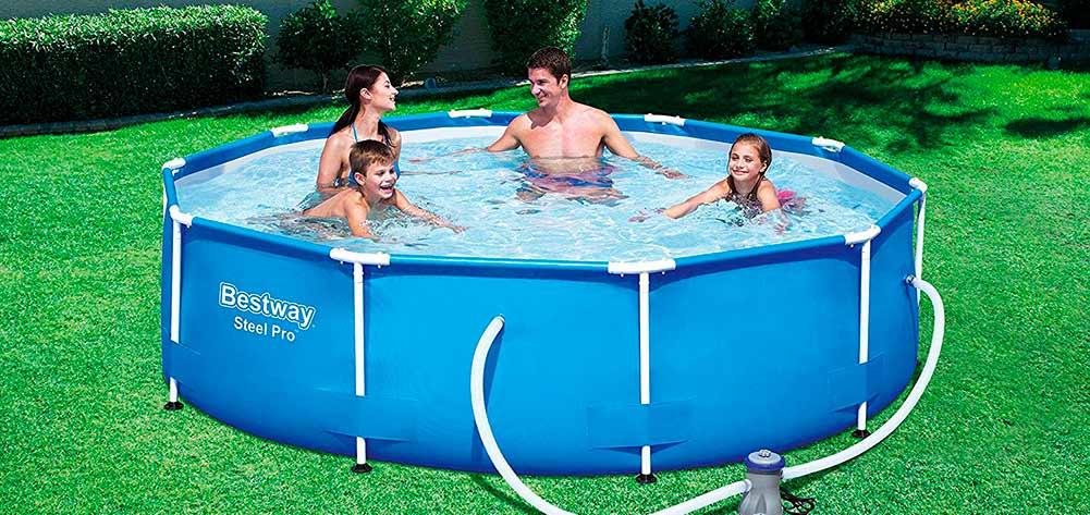 piscina desmontable jardin